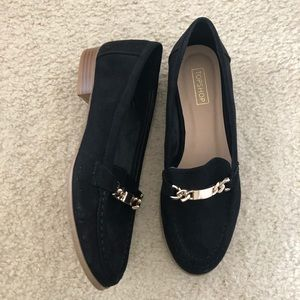 Top shop suede loafers